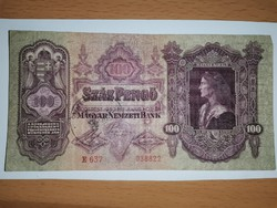 Szép állapotú 100 pengő, fantázia bélyegzéssel!