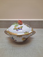 Herendi Viktória mintás leveses csésze + tető