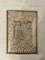 Kézzel írt, festett, kalligráfiás dekor kép