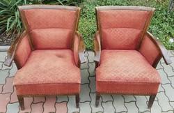 Különleges Art deco fotel különleges ívelt formával