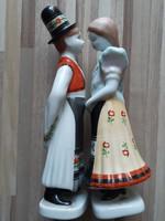 Gyönyörű kézzel festett Holloházi Matyó pár!