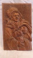 Csodás régi fafaragás Márkus Jenő
