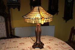 Tiffany lámpa nehéz talppal, 68 cm