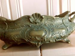 Antik asztalközép, jandinerie, kínáló. 28x16x10 cm