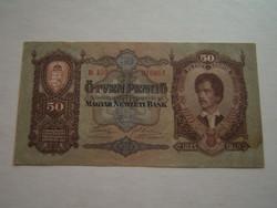 Ötven pengő (hajtatlan) 1930