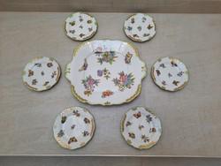 Herendi Viktória mintás süteményes készlet