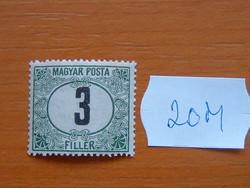 MAGYAR POSTA 3 FILLÉR 1920 20M
