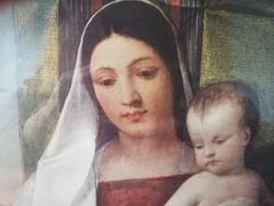 "Olajfestmény, Tiziano - ""Cigány"" madonna, kópia-replika"