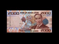 UNC - 2000 LEONES - SIERRA LEONE - 2010 (Új pénzük!)
