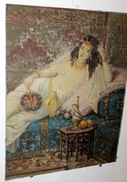 Antik szignált festmény 794
