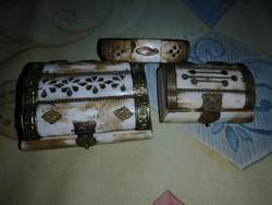 Csont díszdobozok + karkötő