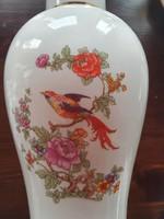 I. osztályú paradicsom madaras porcelán fedeles váza, hibátlan, 32 cm magas