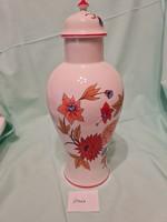 Hollóházi kupakos váza
