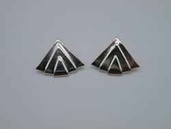 KK1150 Stilizált legyező formájú ezüst fülbevaló 925 geometrikus