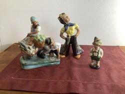 Art deco groteszk kerámia szobrok egyben
