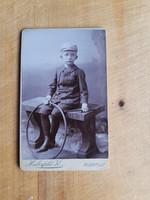 Budapesti kisfiú portréja a századelőről, (T1/2)! keményhátú, kisalakú - Haberfeld Károly műterméből