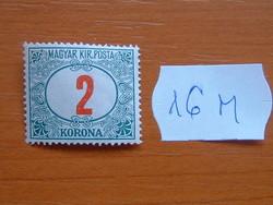 MAGYAR KIR. POSTA 2 KORONA 1922 16M