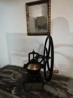 Kávé daráló, szatócsbolti öntöttvas daráló,19. század vége loft