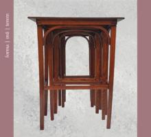 A praktikum és a forma metszéspontja: négy thonet asztalka