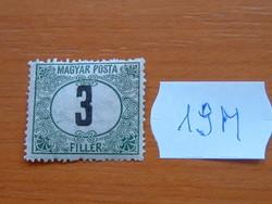 MAGYAR POSTA 3 FILLÉR 1920  19M