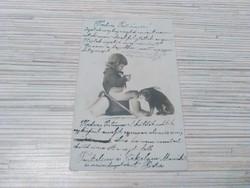 Antik képeslap. Gyerek.