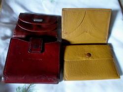 Régi pénztárca, tárca (vintage / retro, bőr)