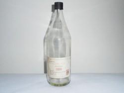 Retro petróleum üveg palack - Hexán Kft. - 1980-as évekből