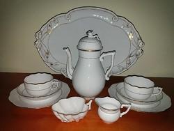 Herendi fehér arany 2 személyes teás készlet