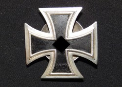 Német 2. VH Vaskereszt Iron Cross / Eisernes Kreuz EK1 - Wächtler & Lange kétrészes csavaros típus