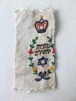 Antik tóra köpeny judaika toramantel zsidó