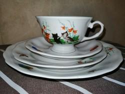 Jarolina lengyel porcelán gyerek reggeliző készlet