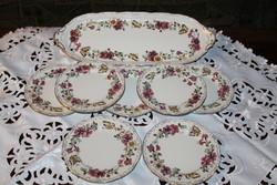 Zsolnay pillangó mintás 8 részes süteményes készlet