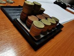 498gramm euró 5 és 10 cent