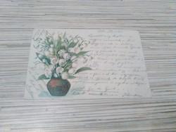 Antik Üdvözlő képeslap. 1900.