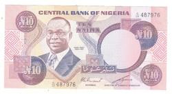 10 naira 1979-84 Nigéria 5. signo gyönyörű