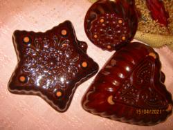 Retro mázas  kerámia sütő formák