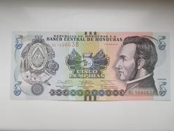 Honduras  5 lempiras 2014 UNC