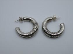KK1189 Kézzel készített nagyméretű ezüst fülbevaló fémjelzett 925