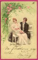 *E - 0013 - - - 1901  Szerelmes üdvözlet