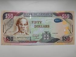 Jamaica 50 dollár 2018 UNC