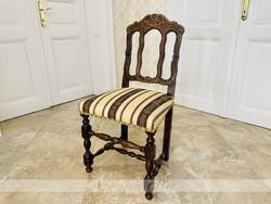 Historizáló faragott szék ca. 1890