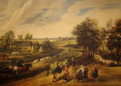 GYÖNYÖRŰ RÉGI JAN BRUEGHEL / 1568-1625 / NYOMAT