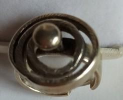 Ezüst gyűrű, egyedi, ötvös munka