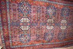 Régi nagy méretű selyem mokett terítő