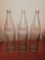 Retro Coca-Cola üvegek, 1literes- 89,90,91