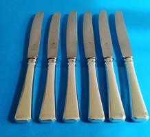 Ezüst 6 darab előételes kés desszert kés angol fazon