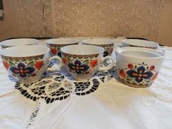 Eladó régi porcelán Bavaria Winterling 6 db teás csésze 1 cukortartó!
