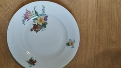 Antik virágos lapos tányér