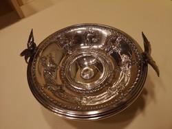 Antik ezüstözött fűszertartók és asztalközép egyben