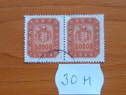 50000 MILPENGŐ 1946 CÍMER 1 PÁR  30M